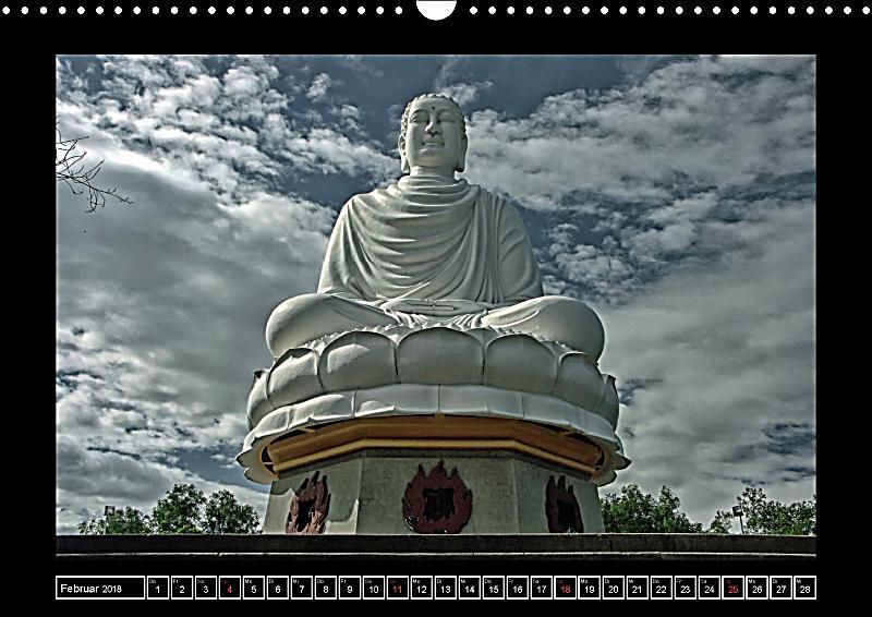 Asiens buddha wandkalender 2018 din a3 quer kalender for Buddha bestellen