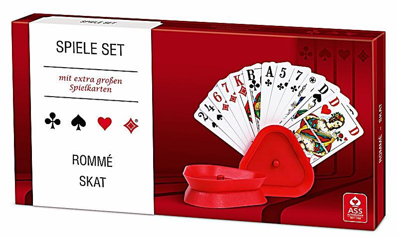 ASS Senioren - Spielset Rommé Skat mit Kartenhalter | Weltbild.ch