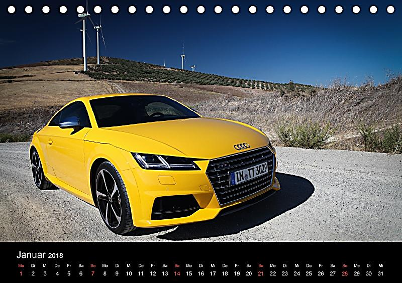 audi tts tischkalender 2018 din a5 quer kalender bestellen. Black Bedroom Furniture Sets. Home Design Ideas