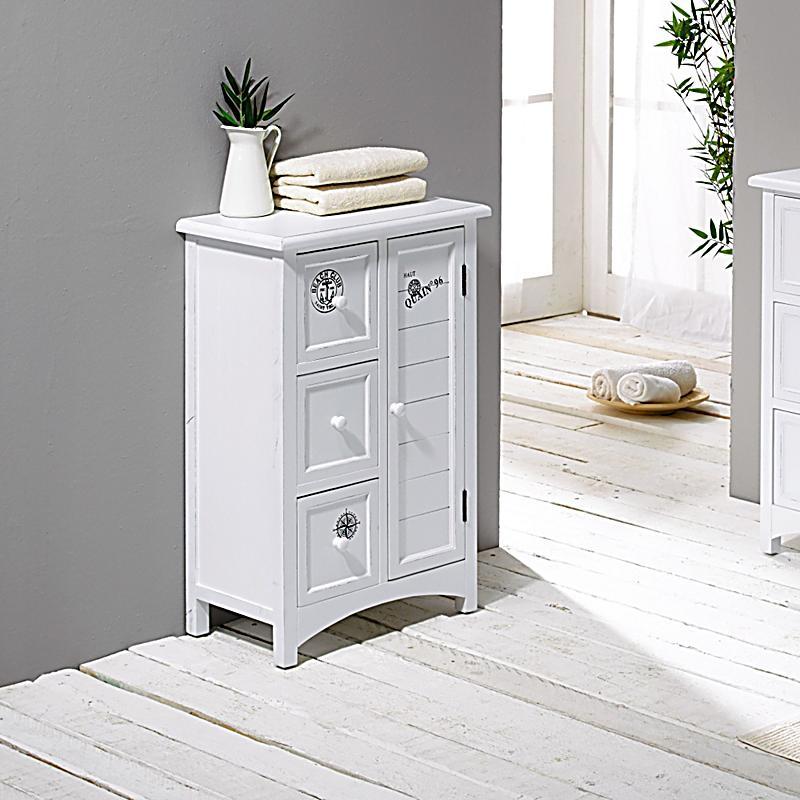 badschrank nautik wei jetzt bei bestellen. Black Bedroom Furniture Sets. Home Design Ideas