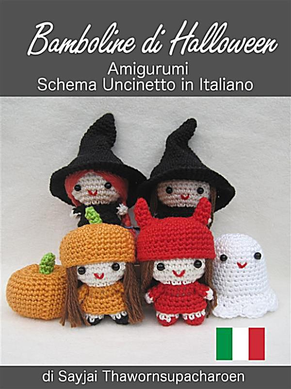 Amigurumi Halloween Schemi : Bamboline Di Halloween Amigurumi Schema Uncinetto In ...