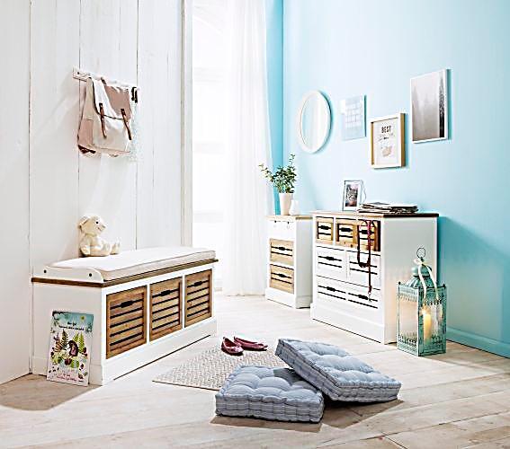 bank provence mit 3 schubladen jetzt bei bestellen. Black Bedroom Furniture Sets. Home Design Ideas