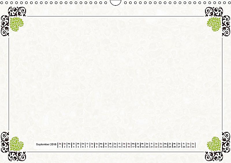 bastelkalender nostalgie rahmen 2018 wandkalender 2018 din a3 quer kalender bestellen. Black Bedroom Furniture Sets. Home Design Ideas