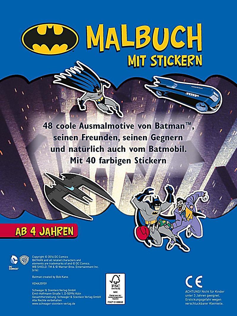 Batman Malbuch mit Stickern Buch bei Weltbild.ch online bestellen