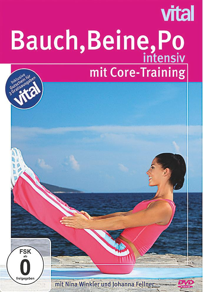 bauch beine po intensiv mit core training dvd. Black Bedroom Furniture Sets. Home Design Ideas