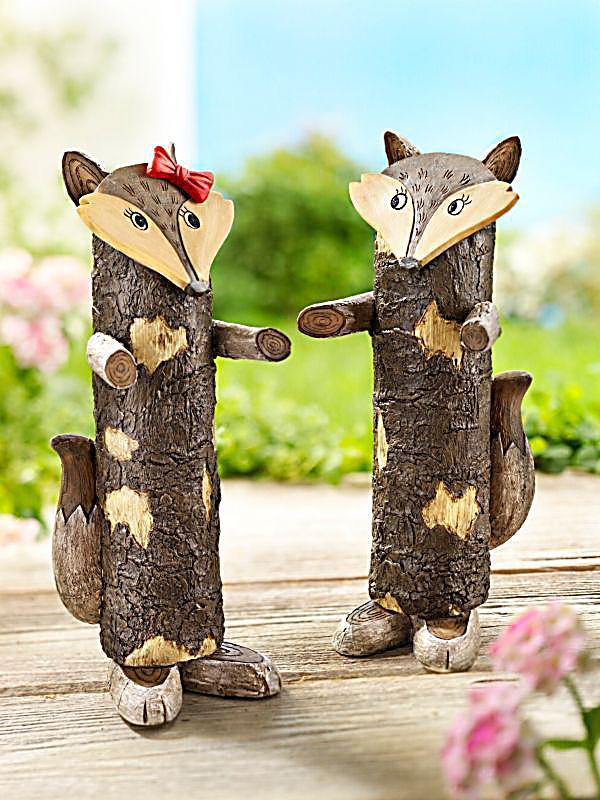 Baumstammfiguren Fuchs, 2erSet jetzt bei Weltbildde