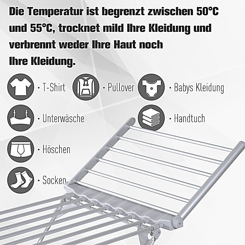Beheizbarer Wäscheständer mit 2 faltbaren Flügeln | Weltbild.de