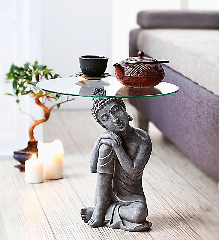beistelltisch buddha produktdetailbild - Buddha Deko Wohnzimmer
