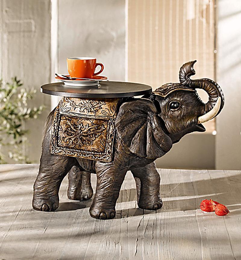 Beistelltisch elefant jetzt bei bestellen for Deko beistelltisch