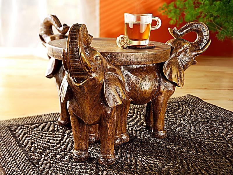 beistelltisch elefanten trio jetzt bei bestellen. Black Bedroom Furniture Sets. Home Design Ideas