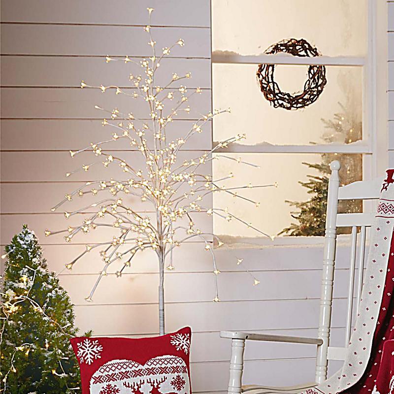 Beleuchteter baum wei beleuchteter baum 200 led h150cm - Weihnachtsbaum obi ...
