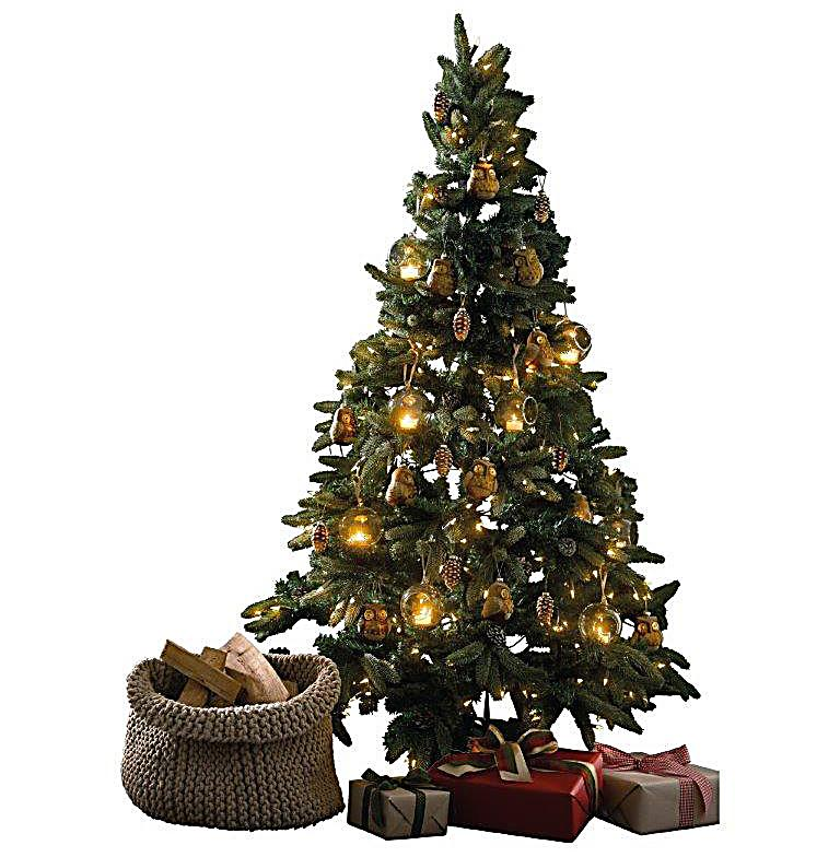 Beleuchteter tannenbaum zapfen und schnee bestellen for Beleuchteter tannenbaum