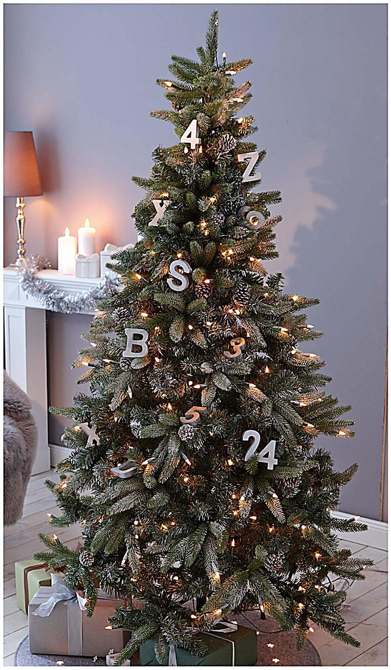 Beleuchteter tannenbaum zapfen und schnee bestellen - Beleuchteter tannenbaum kunststoff ...