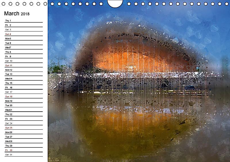 Art Calendar Berlin : Berlin digital art cityscapes wall calendar din a