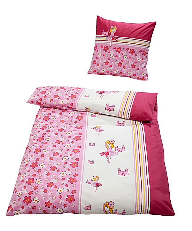 bettw sche ballerina pink linon 135 x 200 cm. Black Bedroom Furniture Sets. Home Design Ideas