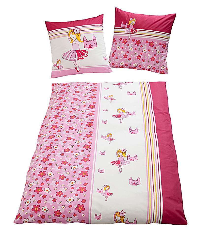 bettw sche ballerina pink linon 135 x 200 cm. Black Bedroom Furniture Sets. Home Design Ideas
