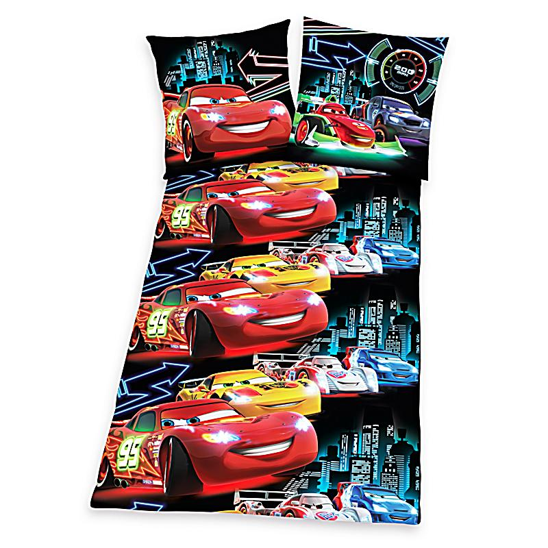 bettw sche cars neon allover renforc 135 x 200 cm. Black Bedroom Furniture Sets. Home Design Ideas