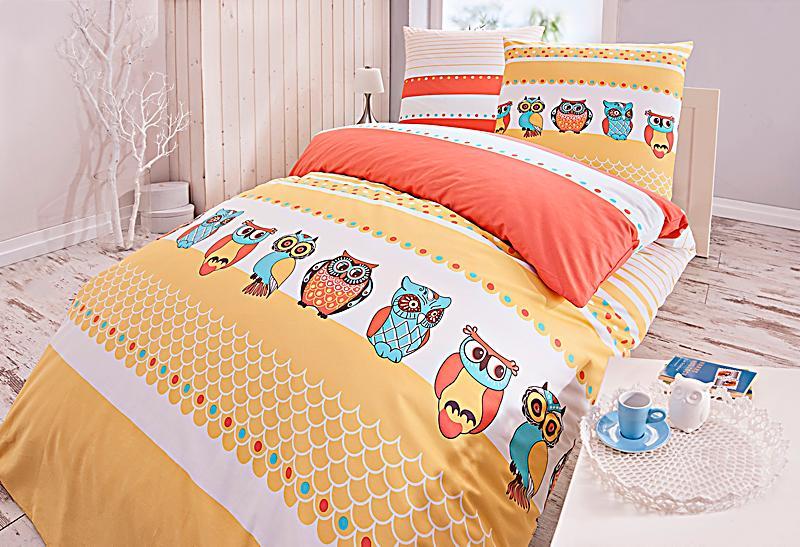 bettw sche civetta orange gr e 155 x 220 cm. Black Bedroom Furniture Sets. Home Design Ideas