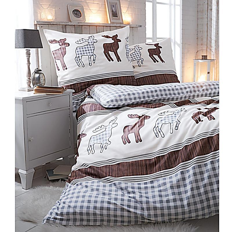 bettw sche elch fred beige braun 135x200 bestellen. Black Bedroom Furniture Sets. Home Design Ideas