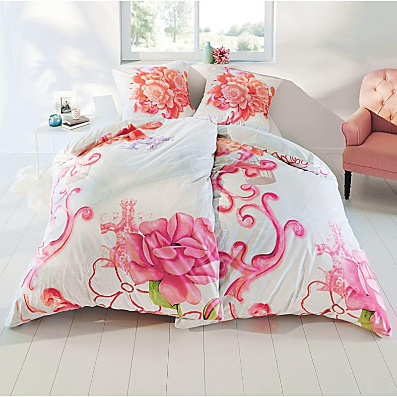 bettw sche flower paisley pink 135x200 bestellen. Black Bedroom Furniture Sets. Home Design Ideas