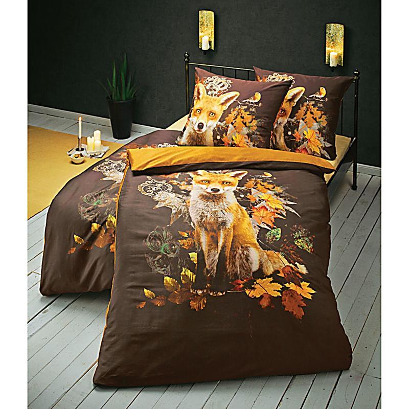 bettw sche fuchs braun 155x220 jetzt bei bestellen. Black Bedroom Furniture Sets. Home Design Ideas