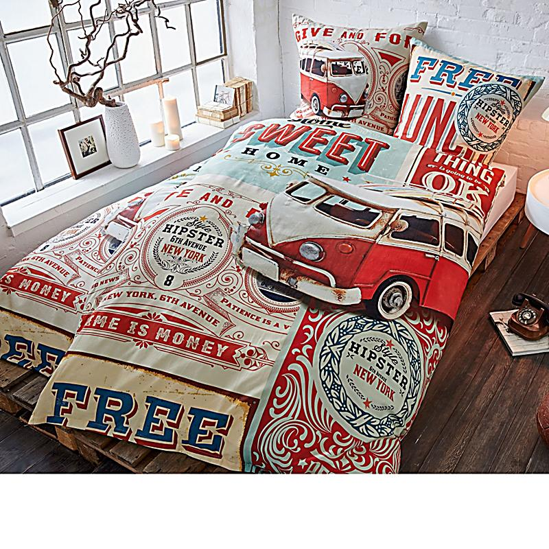 bettw sche hipster bunt 135 x 200 cm bestellen. Black Bedroom Furniture Sets. Home Design Ideas