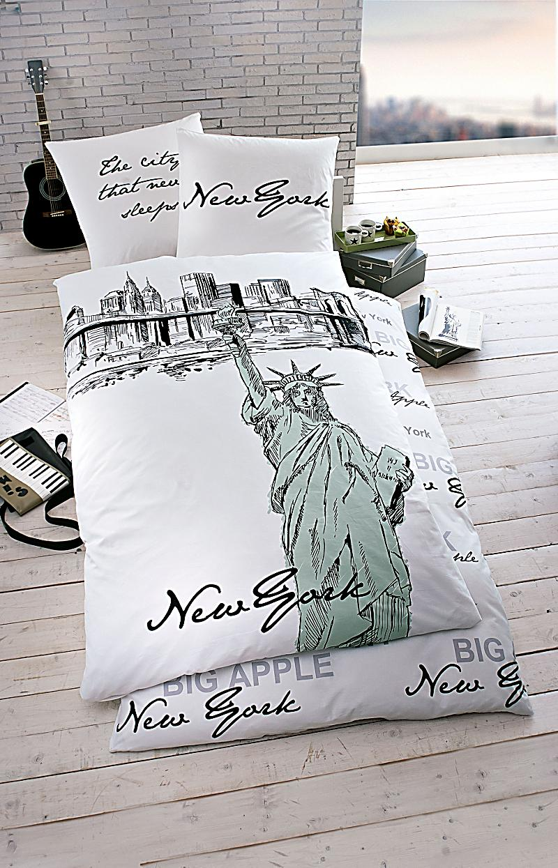 bettw sche new york scribble jetzt bei bestellen. Black Bedroom Furniture Sets. Home Design Ideas