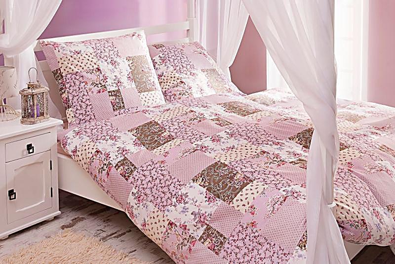 bettw sche patchwork optik 135 x 200 cm. Black Bedroom Furniture Sets. Home Design Ideas