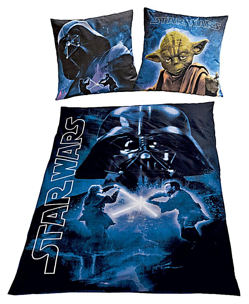 bettw sche star wars exklusiv nachtleuchtend linon 135 x 200 cm. Black Bedroom Furniture Sets. Home Design Ideas
