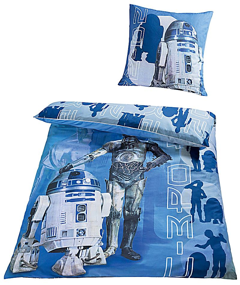 bettw sche star wars r2 d2 und c 3po linon 135 x 200 cm. Black Bedroom Furniture Sets. Home Design Ideas