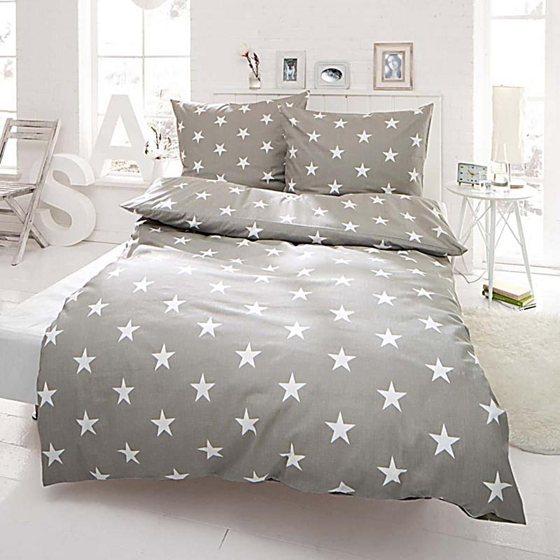 bettw sche sterne hellgrau 200x200 bestellen. Black Bedroom Furniture Sets. Home Design Ideas