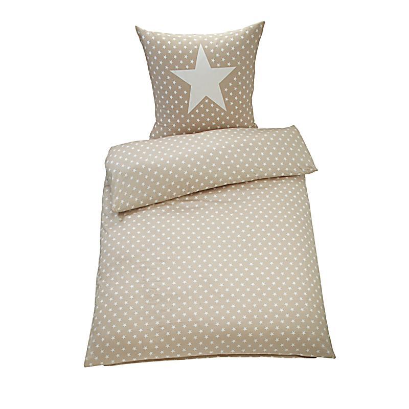 bettw sche sterne sand 135 x 200 cm bestellen. Black Bedroom Furniture Sets. Home Design Ideas