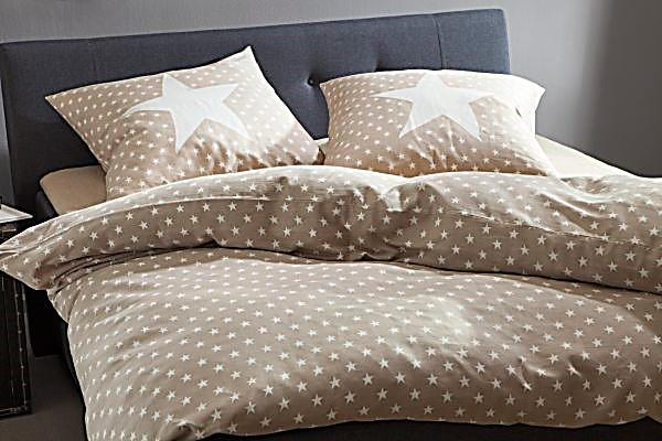 bettw sche sterne sand 155 x 220 cm. Black Bedroom Furniture Sets. Home Design Ideas