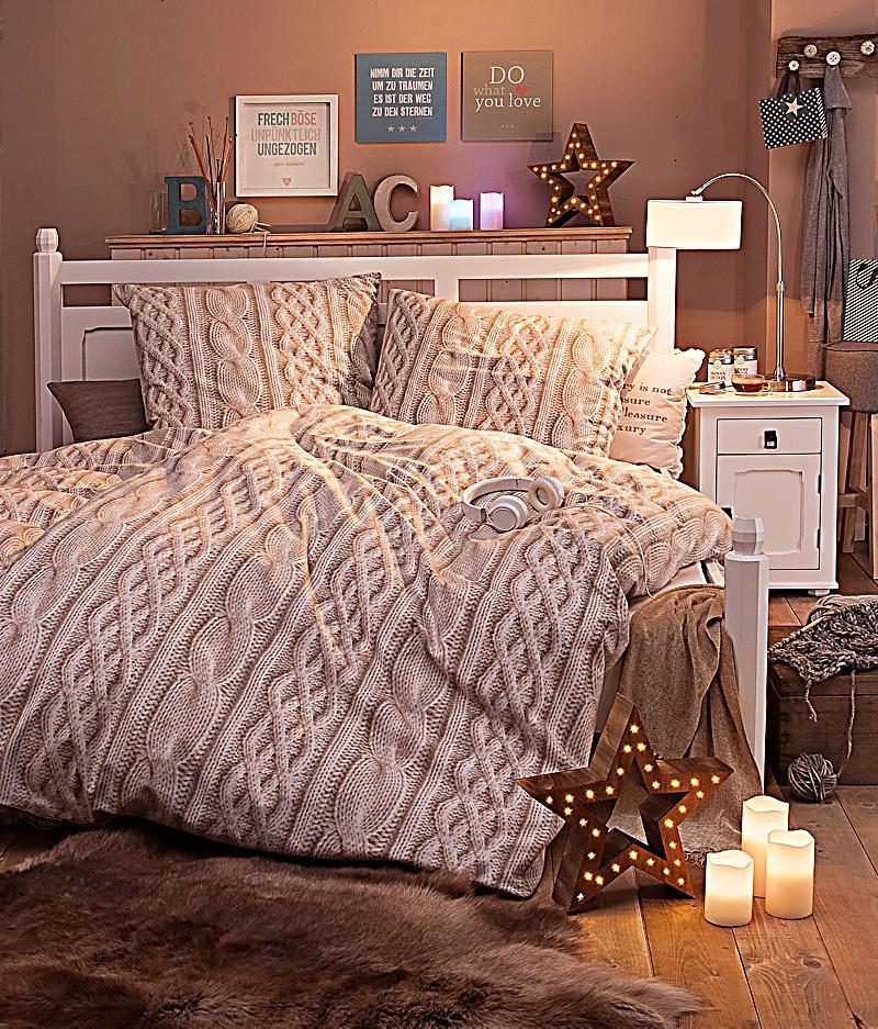 bettw sche strickoptik 135 x 200 cm bestellen. Black Bedroom Furniture Sets. Home Design Ideas