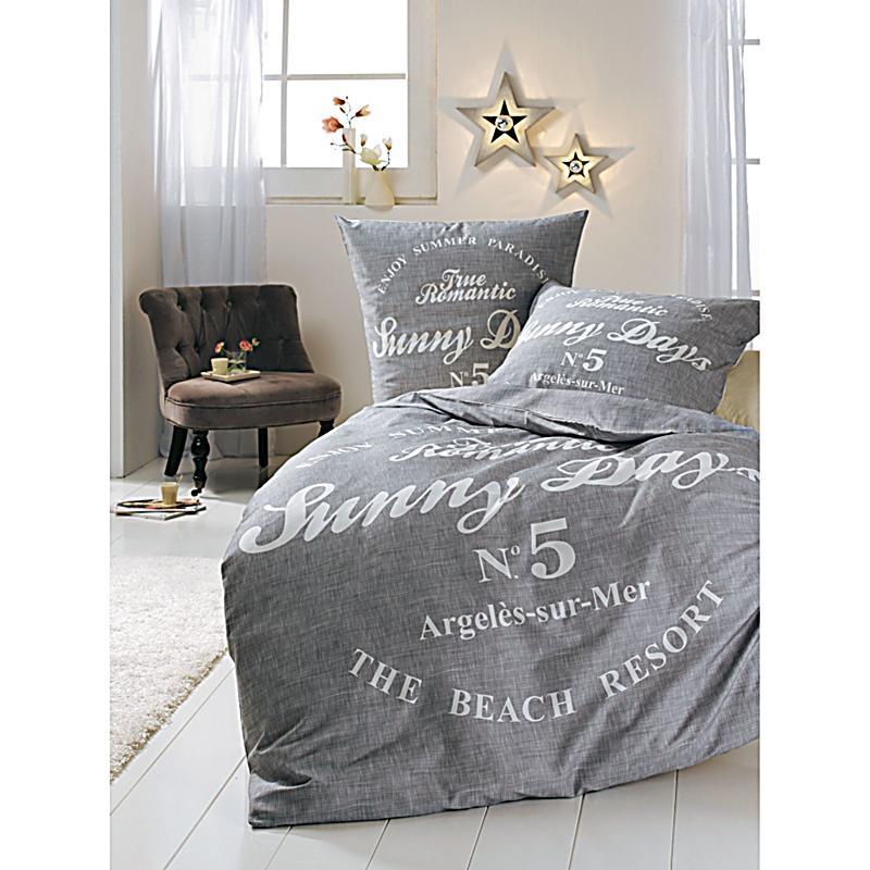 bettw sche sunny days grau wei 135x200 bestellen. Black Bedroom Furniture Sets. Home Design Ideas