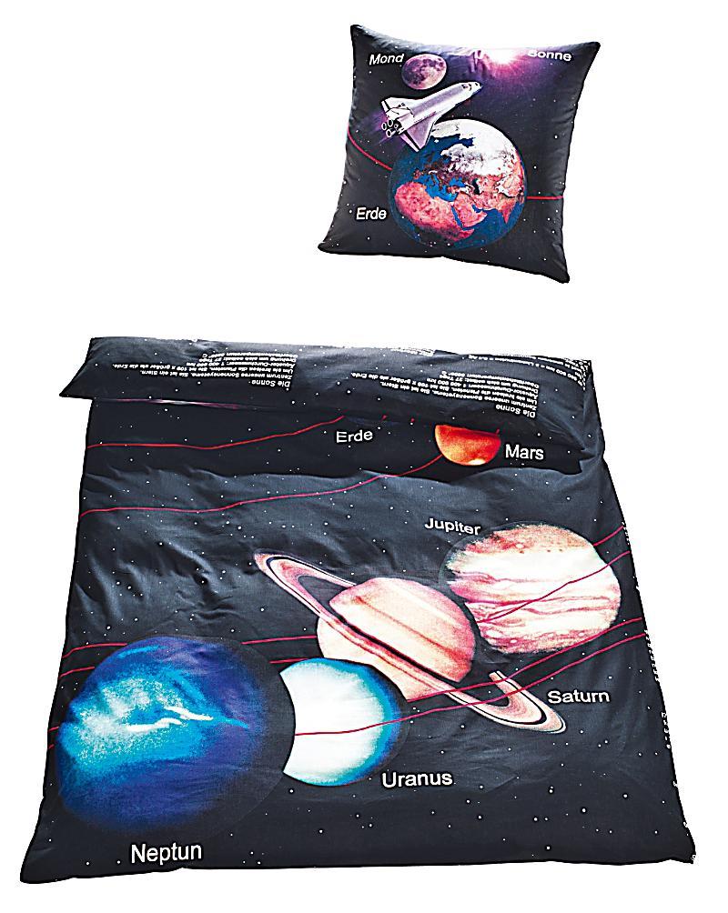 Bettwäsche Unser Sonnensystem : bettw sche unser sonnensystem schwarz linon 135 x 200 ~ Michelbontemps.com Haus und Dekorationen