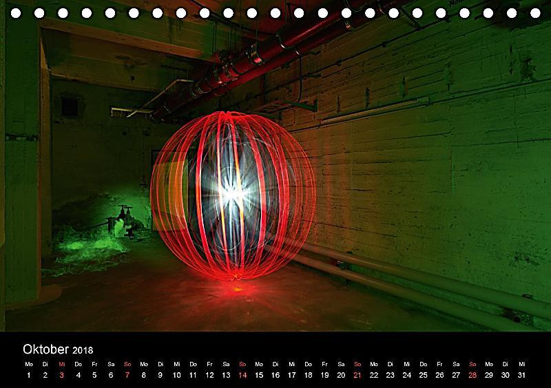 bewegtes licht light art und light painting tischkalender 2018 din a5 quer kalender bestellen. Black Bedroom Furniture Sets. Home Design Ideas