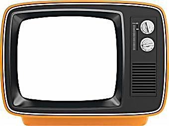 bilderrahmen fernseher retro 2 orange mittel. Black Bedroom Furniture Sets. Home Design Ideas