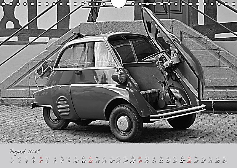 bmw isetta 300 in schwarzweiss wandkalender 2018 din a4. Black Bedroom Furniture Sets. Home Design Ideas