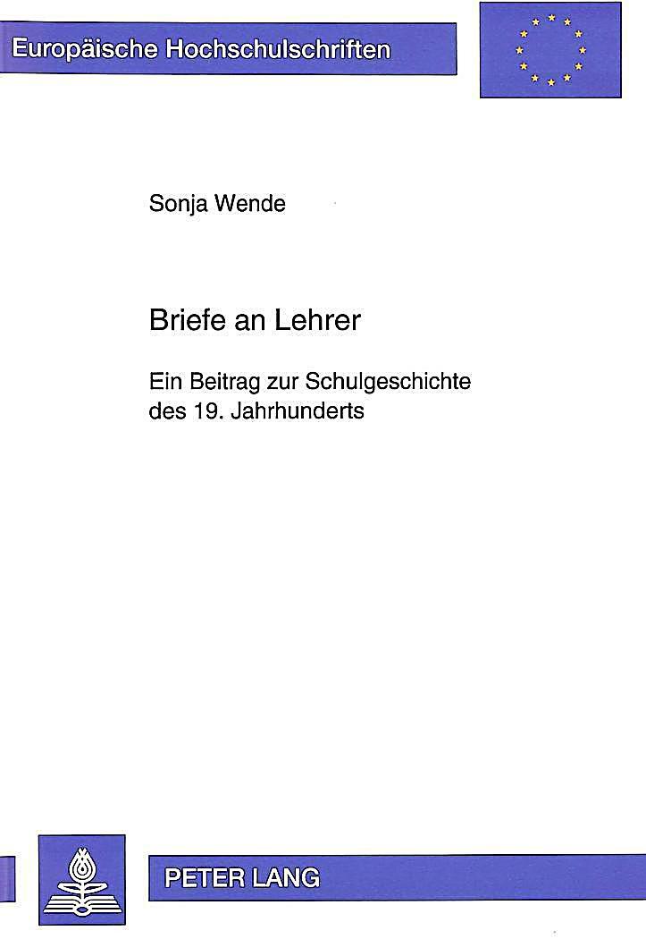 Briefe An Lehrer Schreiben : Briefe an lehrer buch von sonja wende portofrei bei