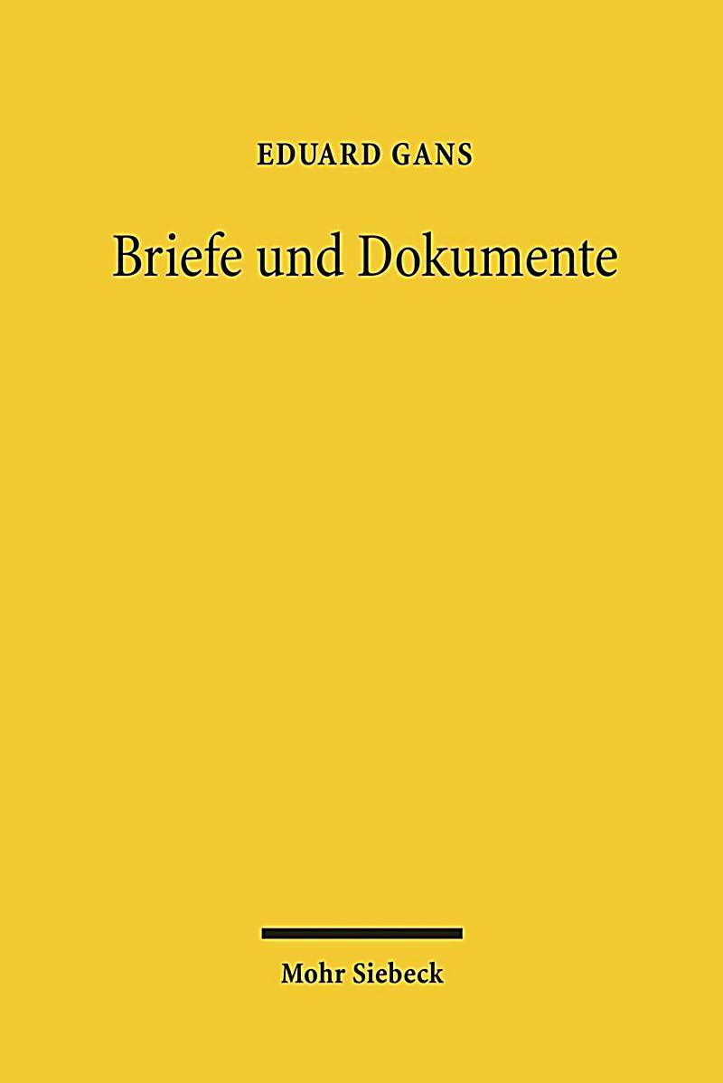 Briefe Und Xd : Briefe und dokumente buch von eduard gans portofrei