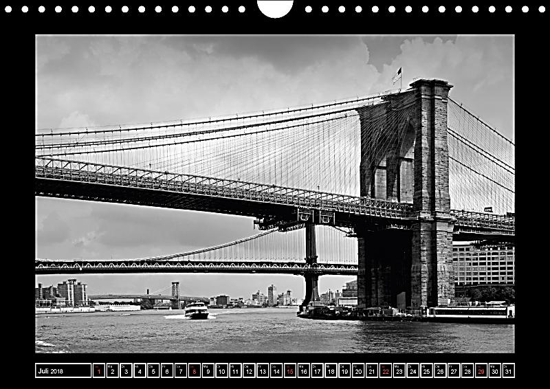 brooklyn bridge das wahrzeichen von new york city wandkalender 2018 din a4 quer kalender bestellen. Black Bedroom Furniture Sets. Home Design Ideas