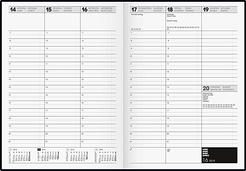 buchkalender a4 balacron 2018 kalender bei. Black Bedroom Furniture Sets. Home Design Ideas