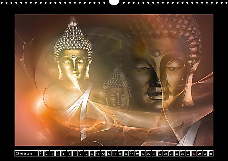 Buddha harmonie und entspannung wandkalender 2018 din a3 for Buddha bestellen