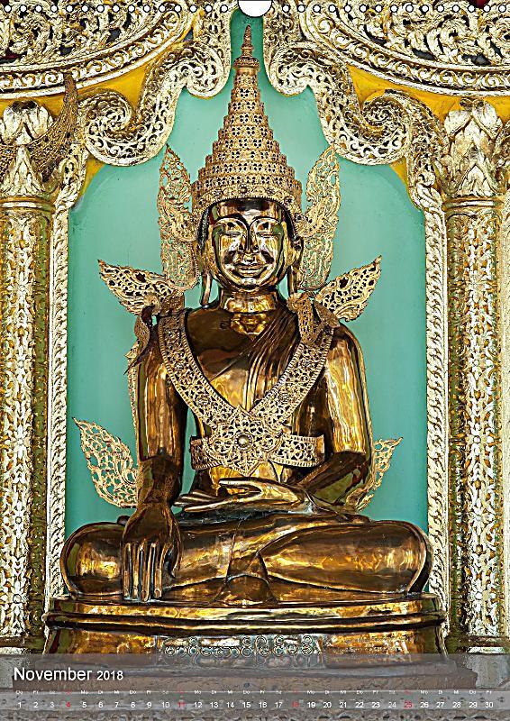 Buddha harmonie und gelassenheit wandkalender 2018 din for Buddha bestellen