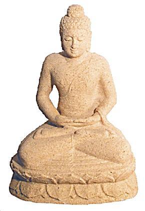 Buddha in meditation sandstein natur bestellen for Buddha bestellen