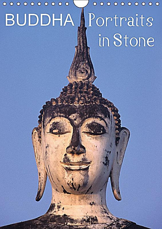 Buddha Portraits In Stone Wall Calendar 2018 Din A4