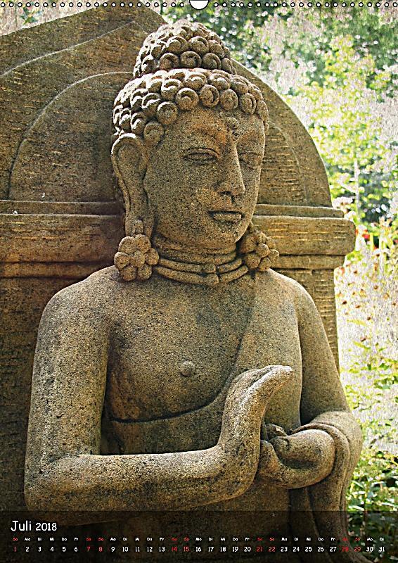 Buddha Statuen Ch Version Wandkalender 2018 Din A2 Hoch