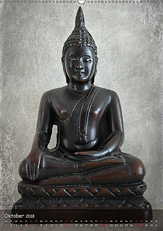 Buddha statuen ch version wandkalender 2018 din a2 hoch for Buddha bestellen