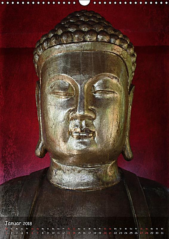 Buddha statuen ch version wandkalender 2018 din a3 hoch for Buddha bestellen